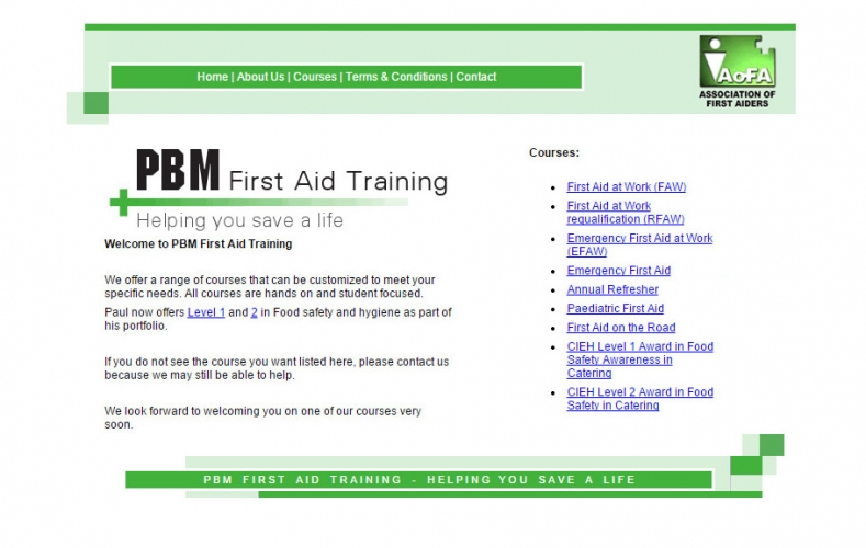 PBM First Aid Training